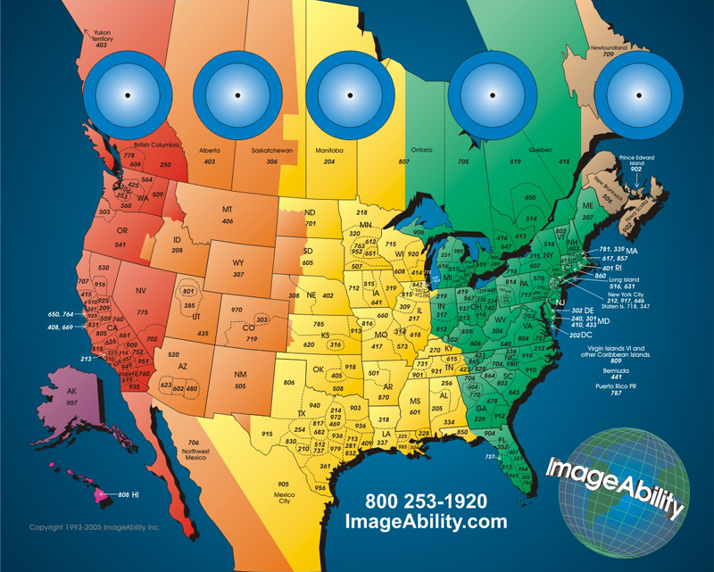 ImageAbility Just in Time Marketing North America Time Zone Clock